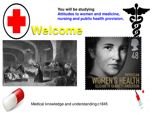 Attitudes to women and medicine, nursing and public health provision.