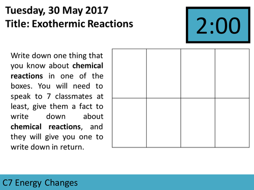 AQA GCSE C7 Energy Changes Sequence of Lessons and Scheme of Work for Trilogy Specification