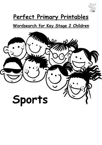 English. Wordsearch: Sports