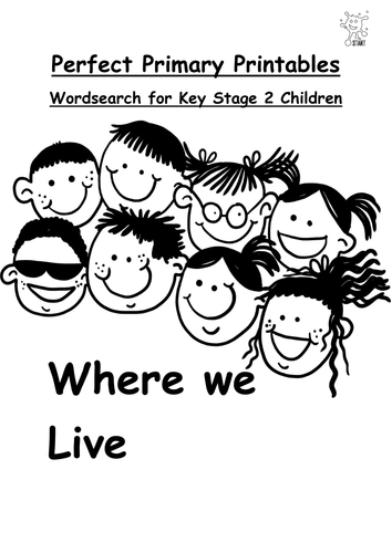 English. Wordsearch: Where we Live