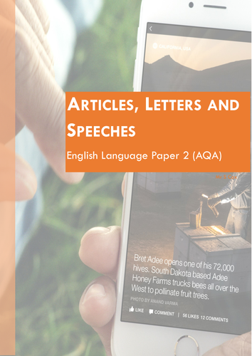Writing and Revising Transactional Writing (Letters, Articles and Speeches)