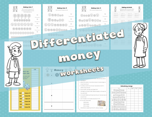 Differentiated money worksheets