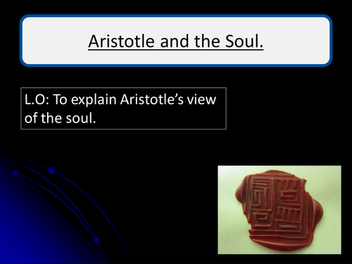 Aristotles theory of the Soul