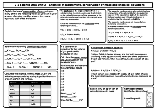 Aqa chemistry 9 1 revision matsgrids for unit 3 quantitative aqa chemistry 9 1 revision matsgrids for unit 3 quantitative chemistry by professorbunsen teaching resources tes urtaz Images
