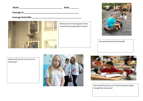 Courage worksheet