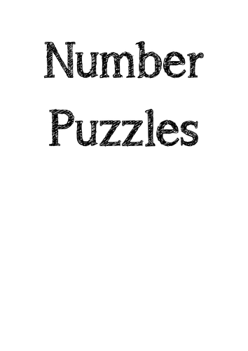 Number Puzzles Booklet