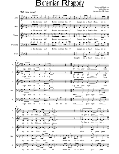 Queen choral arrangements by BenJames179 - Teaching Resources - Tes