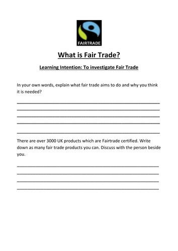 Fairtrade lesson