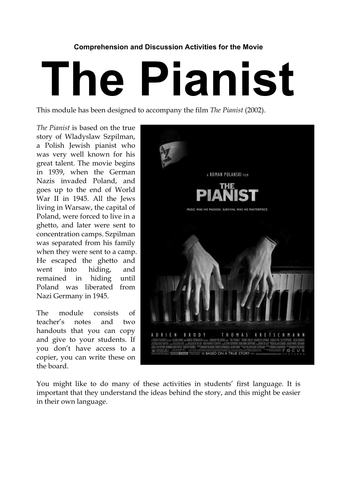 The Pianist Film Resources