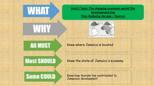 AQA 2016 - Geography - The development gap - Reducing the gap - tourism in Jamaica