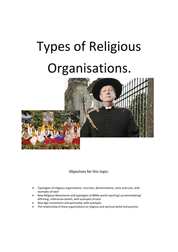 Types of Religious Organisations AQA