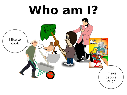 Careers- Who am I? People who help us job descriptions activity