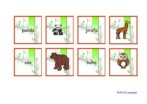 Animales Salvajes Cartas- juego