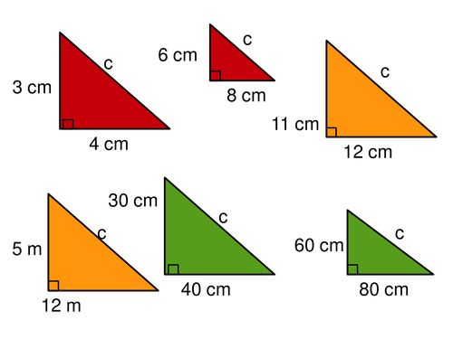 Pythagoras' theorem questions with integers