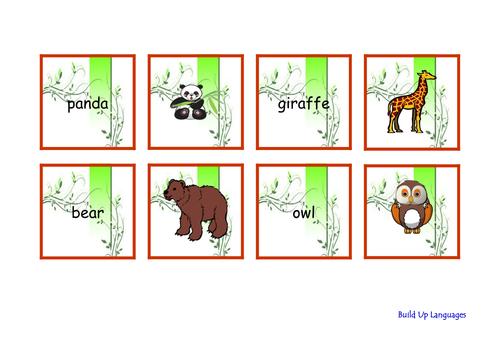 Wild Animals Cards - game