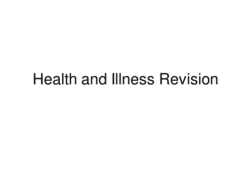 granvilleey s shop teaching resources tes health and illness revision in an hour