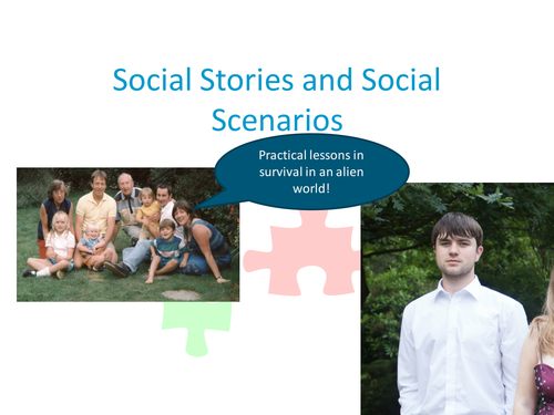 Social Stories Training for Teaching Assistants 2 hr training materials