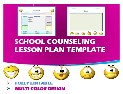 Lesson Plan Template School Counseling Editable By Ejpc - School counselor lesson plan template