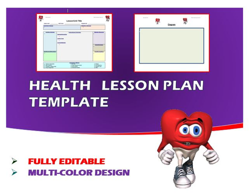Lesson Plan Template Health Editable By Ejpc Teaching - Health lesson plan template