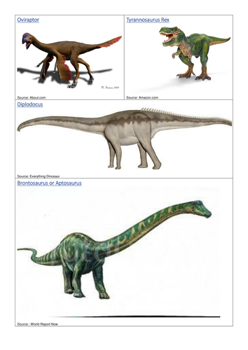 DinoSort - Dinosaur sorting and comprehension skills