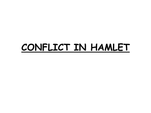 conflict in hamlet What incident serves to initiate the conflict in hamlet - 267292.