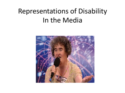 How disability is represented in the media