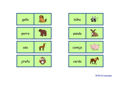 Animales juego-domino