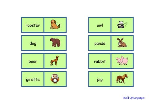 Animals domino-game