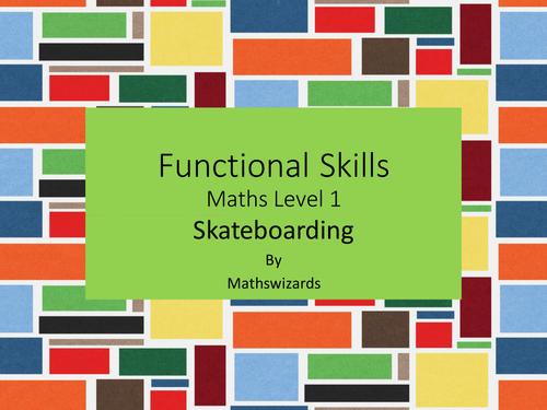Functional Skills Maths Level 1: Skateboarding (Edexcel)