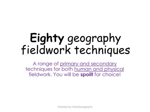 Eighty fieldwork techniques