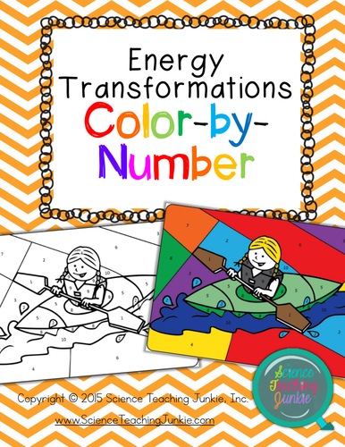 Science teaching junkies shop teaching resources tes energy transformations color by number urtaz Images