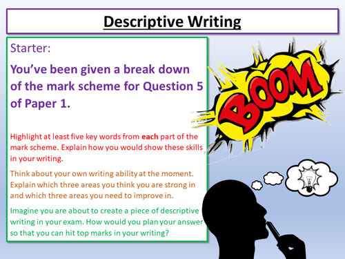 descriptive creative writing punctuation by lead practitioner  descriptive writing aqa paper 1 sec b analysing examples