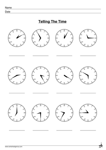 Image Result For Clock Exercises Worksheet Pdf
