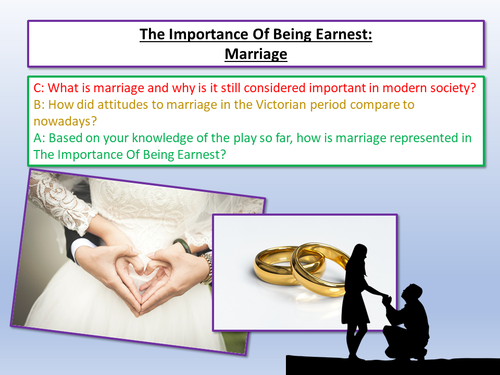 the importance of being earnest essay questions and answers I am writing a paper about how the film version of the importance of being earnest enhances and strengthens the characters of jack worthing and algernon moncreiff.