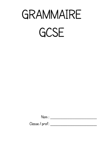 model essay presentation on health activities by  gcse french grammar booklet