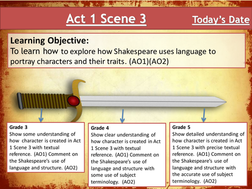 Macbeth - Lesson 5- Looking at Act 1 Scene 3