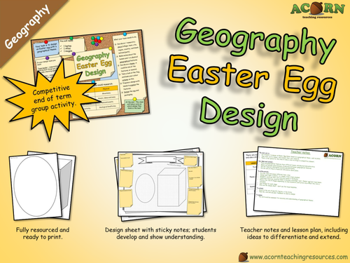 Geography - Design an Easter Egg (with a geographical theme)