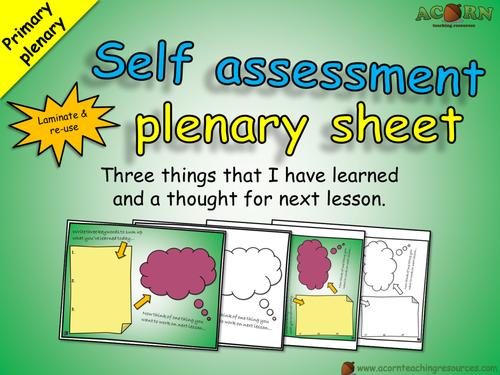 Classroom resource - Primary self assessment plenary