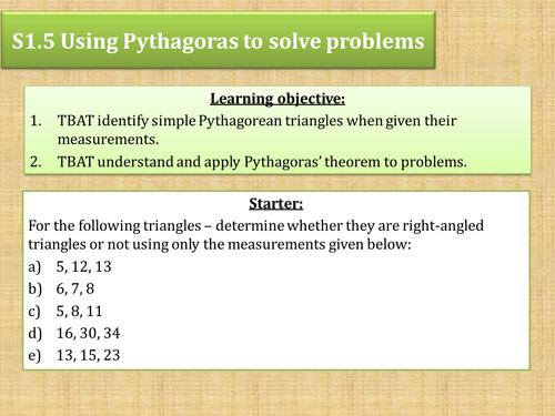 Pythagoras worded problem