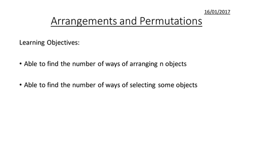 High School advanced statistics lesson plans and activities – Permutations Worksheet