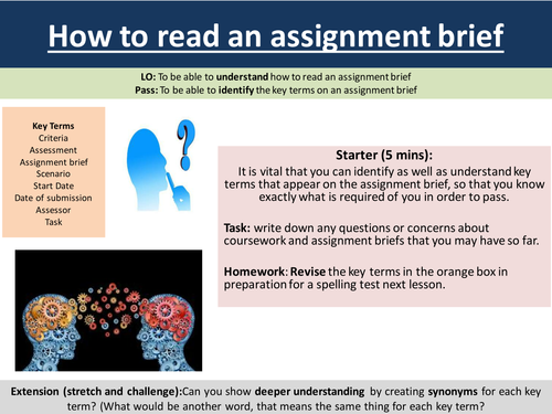 BTEC support How to read an assignment brief part 2