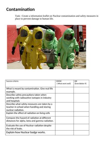 New GCSE Physics : Nuclear Contamination