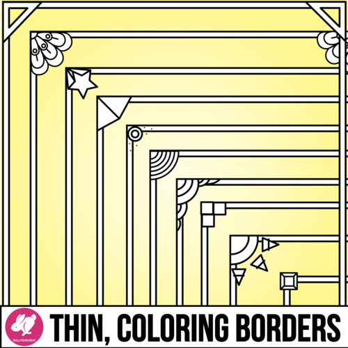 Coloring Borders Clip Art for Printables & Coloring Pages