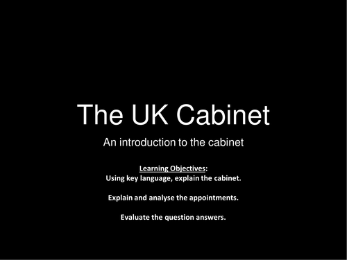 an introduction to the UK Cabinet