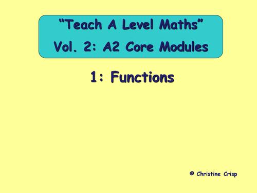 A level Mathematics C3 lesson resources