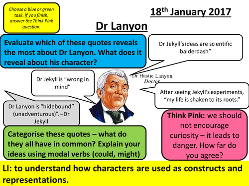Dr Jekyll and Mr Hyde - AQA New Spec Chapter 6 - Characterisation and Dr Lanyon