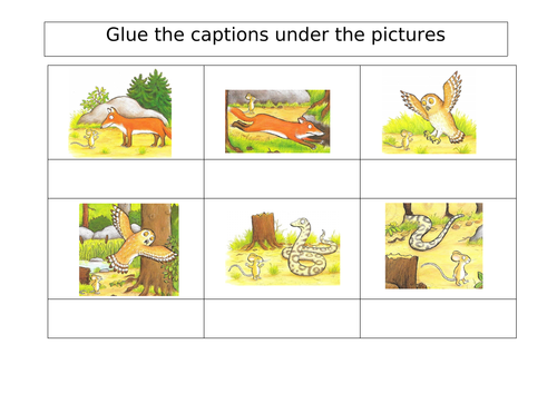 Gruffalo Worksheets By Joanneconnor Teaching Resources Tes