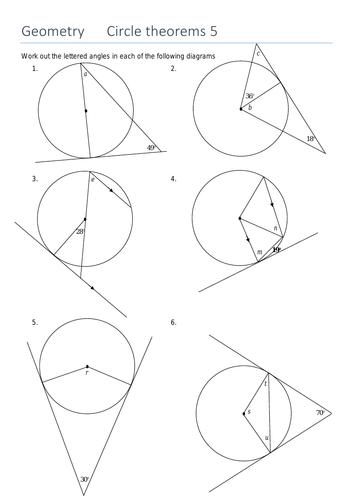 Circle Theorem: Angle between a tangent and its radius