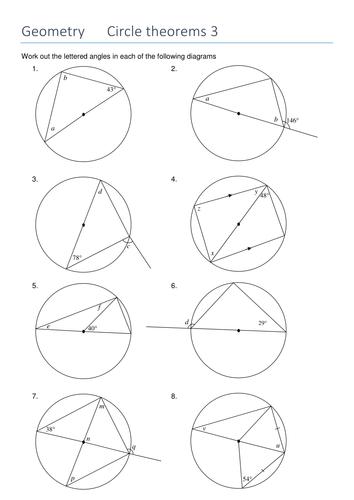 Circle Theorems By Sjcooper Teaching Resources Tes