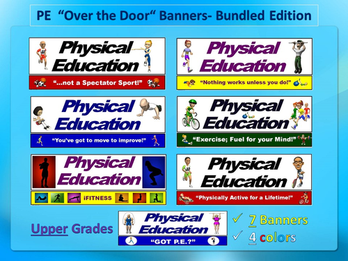 PE Banners (Posters) - Upper Grade; Bundled Edition
